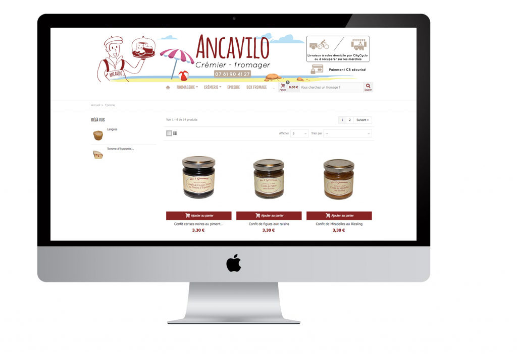 Pointcom Agence web au Mans : Site web Ancavilo