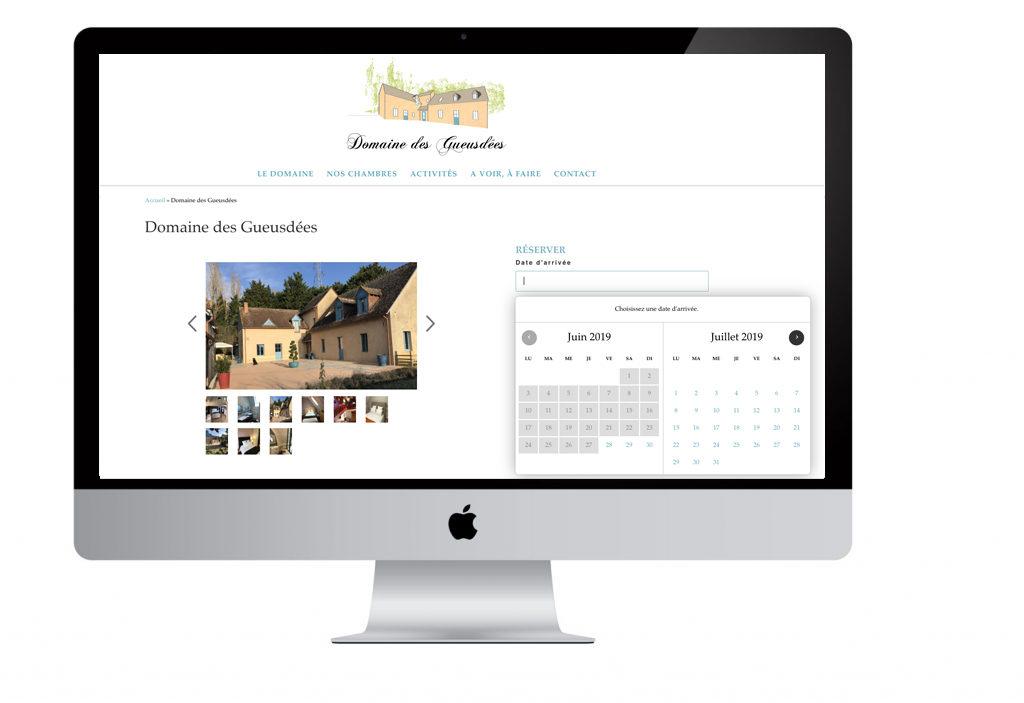 Pointcom création site internet Artisan : Domaine des Gueusdées