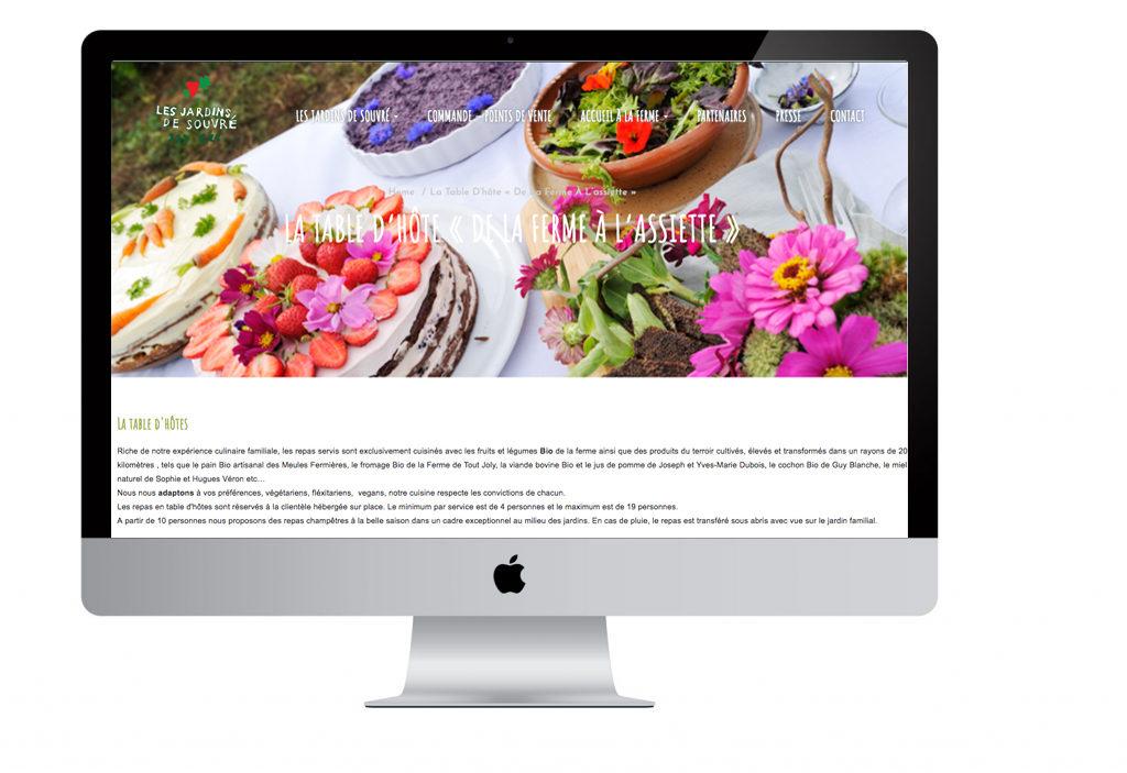 Pointcom création site internet au Mans - Site web Les Jardin de Souvré